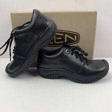 Keen Utility Women's Sz 5 PTC Black Smooth Leather Casual Oxfords Shoes NEW $115