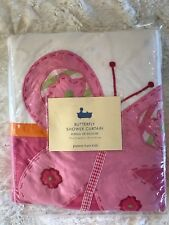 Pottery Barn Kids Butterfly Shower Curtain in Pink - New