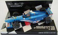 F1 1/43 BENETTON B198 PLAYLIFE WURZ SILVERSTONE 1998 MINICHAMPS