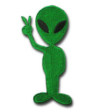 ET Alien Peace Patch UFO flying Saucer Roswell Area 51 Retro Applique Iron on
