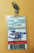 Fifth Element ID Badge-Weapons Research costume prop Cosplay