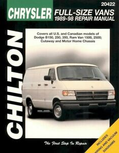 Chrysler Full-Size Vans 1989-98 Chilton Repair / Workshop Manual - 20422