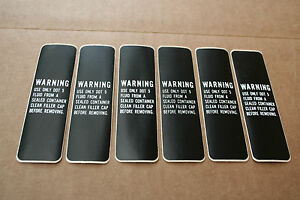 45105-77 NOS 6 Original Harley Handle Bar Warning Sticker 1977-81 FL, FX, XL 195