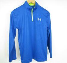 Boys UNDER ARMOUR Heat Gear Loose Fit Sweater 1/4 Zip Jersey Sz YLarge [B7]