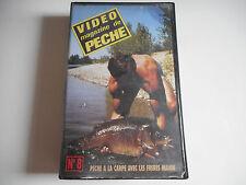VHS K7/ CASSETTE VIDEO - PECHE A LA  CARPE N° 8 avec les fréres MAHIN