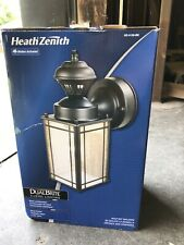 Heath Zenith Shaker Cove Mission 150° Black Motion Outdoor Wall Lantern Sconce