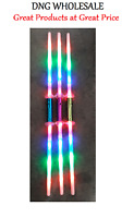 3 Galactic Wars Dual Lightsaber 2 Sided Double Light Up Kids Star Toy Sword