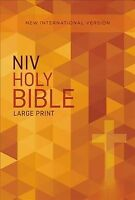 Holy Bible : New International Version, Orange Cross, Paperback by Zondervan ...