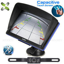 "Car 7"" Gps Navigation Bluetooth Sat Nav with Wireless Rear View Backup Camera"