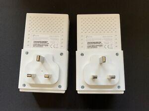 Two TP-LINK TL-PA7010KIT AV1000 1-Port Gigabit Powerline Adapters