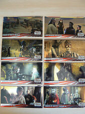 *** TOPPS STAR WARS THE PHANTOM MENACE WIDEVISION CHROME CARDS C1-C8 SET ***