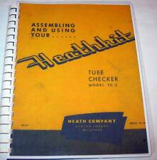 Assembly Manual with Tube Charts for Heathkit TC-2 TUBE TESTER, Test Data Setups