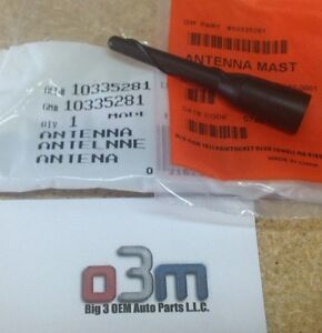 "Chevrolet GMC Pontiac Cadillac Buick Short Communication 3"" ANTENNA MAST new OEM"