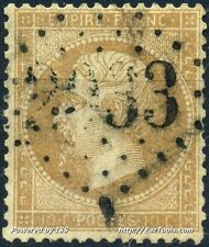 FRANCE EMPIRE N° 21 OBLITERATION GC 2033 LIQ ATHERAY BASSES PYRENEES COTE 110€