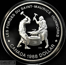 1988 Canada $1 Proof Silver Saint-Maurice Ironworks