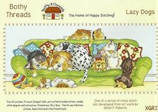 BOTHY THREADS LAZY DOGS COUNTED CROSS STITCH KIT 36x16cm - NEW