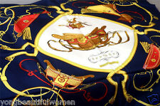 """NEW AUTHENTIC HERMES PARIS BEAUTIFUL *SPRINGS* By Philippe Ledoux SILK SCARF 35"""""""