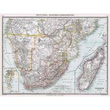 Antique Map 1906 - South Africa Industrial and Communication - Harmsworth Atlas