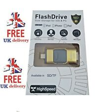 200gb ORO iFlash Chiavetta USB per iPhone/iPad/Tablet Mega ** vendita **