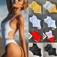 Sexy Women's One-piece Monokini Bikini Padded Swimsuit V Thong Bathing Swimwear