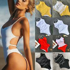 63518bb3dd17b Sexy Women's One-piece Monokini Bikini Padded Swimsuit V Thong Bathing  Swimwear