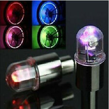 Dome bike bicycle valve dust cap LED lights Multi Colour Neon Car Wheel Tire