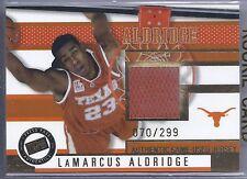 2006 Press Pass Basketball LaMarcus Aldridge UT Longhorns Jersey Card #70/299