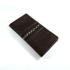 Long Wallet Men's Stingray Skin Brown Middle Thorn Leather Genuine Bifold
