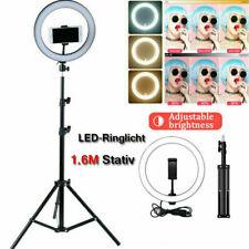 26cm LED Ringlicht mit 1,6M Stativ Ringleuchte Fotolicht  Studiolicht Blitzlicht