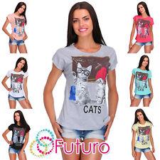 Casual T-Shirt Teacher Print Crew Neck Short Sleeve Ladies Top Sizes 8-14 FB147