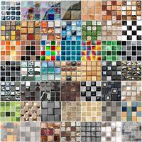 10/18pcs Mosaic Self-adhesive Bathroom Kitchen Decor Home Wall 3D Tile Sticker