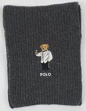 Polo Ralph Lauren Collectable Grey Teddy Bear Scarf NWT