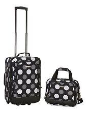 2 Piece Luggage Set Polyester - Multi Pink Dot New