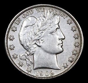 1902-s Barber Half Dollar 50c Choice AU * BU Slider +Looks Uncirculated