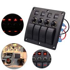 4Gang LED Schaltpanel Schalter Schalttafel  für Marine Boot Bus Auto 12/24V