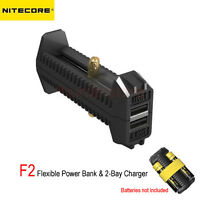 Nitecore F2 USB Flexible Power Bank 2-Bay Flex Outdoor Travel Charger Li-ion IMR
