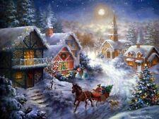 De Navidad aldea patrón de punto de cruz