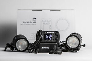 Profoto B2 Location Kit 250 AirTTL Mobile Blitzanlage  2 Köpfe 2 Akkus Tip Top