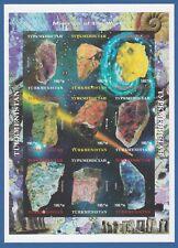 Turkmenistan 1999 minerali minerals mini sheet unperforated MNH**og