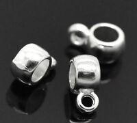 1000 Versilbert glatt Rund Spacer Beads 0.3cm Durchmesser