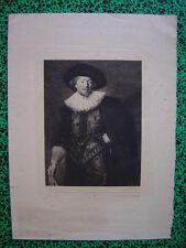 Gravure Portrait Michiel De WAAL Dessiné par Frans Hals Gravé p Achille Gilbert