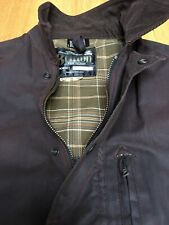 Britton From Belstaff Mens M 46in Made In England Waterproof Waxed Bomber Jacket