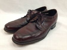 Dexter Shoes Mens 8.5 D Brown Leather Lace Up Dress Loafers Moc Toe Made In USA
