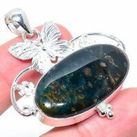 "Pietersite Gemstone Handmade Ethnic 925 Silver Jewelry Pendant 1.97"" VJ-14294"
