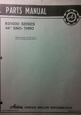 Ariens S-12 14 16 Lawn Garden Tractor 48 Sno-Thro 831010 Parts Manual  002001-up
