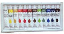 12 PC ACRYLIC PAINT SET Professional Artist Paints Painting Pigment 12ml Tubes
