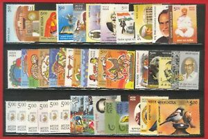 India 2010 Year Pack Full Complete Set of 91 stamps Assorted topics MNH