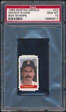 1983 Boston Herald #23 Sox Stamps Dwight Evans PSA 10 GEM MT (Pop 2) Dewey