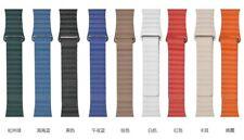 Correa Apple Watch Series 1 2 3 4 5 6 colores pulsera correa Cuero 42-44mm 38-40