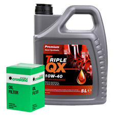 Triple QX Premium 10W40 Engine Oil 5L and Oil Filter Service Kit